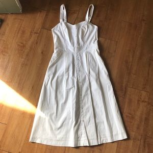 Guess Summer White Midi Dress